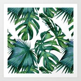 Classic Palm Leaves Tropical Jungle Green Kunstdrucke
