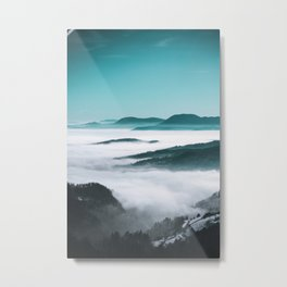 Layers of hills, fog and trees Metal Print
