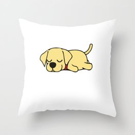 Slumber Labrador Animal Party Shirt Sleepover Pajama Girl Women Throw Pillow