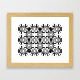 Circle optical effect Framed Art Print