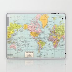 World Map Laptop & iPad Skin