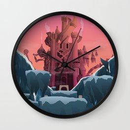 Hollow Bastion (Kingdom Hearts) Travel Poster Wall Clock