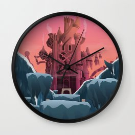 Hollow Bastion (Kingdom Hearts) Travel Poster Wall Clock