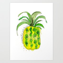 Pineapple (NOT under the sea) Art Print