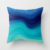 bedding Throw Pillows featuring SEA BEAUTY 2 by Catspaws