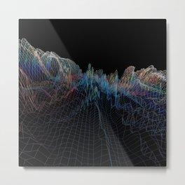 glitch waves Metal Print