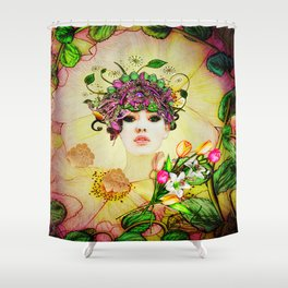 Mixing Memory and Desire Shower Curtain