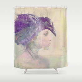 The witch crow Shower Curtain