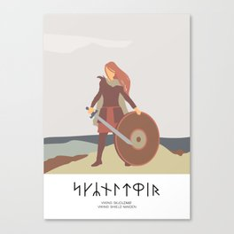 SHIELD MAIDEN - BLUETOOTH's WOMEN VIKING WARRIOR Canvas Print