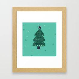 May Your Days Be Merry And Bright Christmas Tree Print Framed Art Print