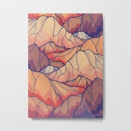 peak and lines Metal Print