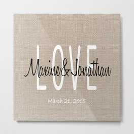 Wedding Pillow Metal Print