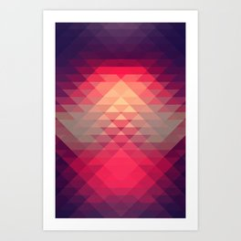 Hipster Triangles Art Print