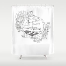 A Ship in the Harbor Shower Curtain