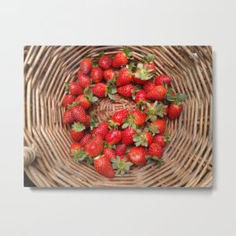 A Basket of Strawberries Metal Print