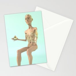 Cyborg Alien Mistress of the Icosahedron Stationery Cards