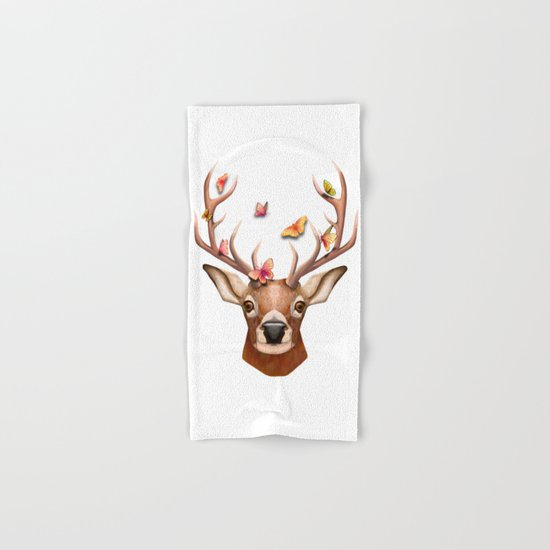 Stag and the Butterflies  Hand & Bath Towel