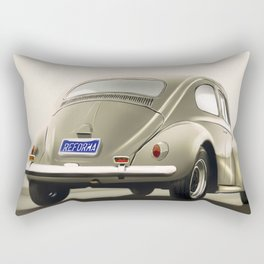 VW Beetle Digital Painting   Automotive   Car Rectangular Pillow