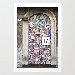 Piazza Duca di Genova 17 in Catania - Sicily Art Print