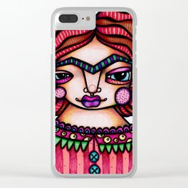 JennyMannoArt Colored Illustration/Frida by JennyMannoArt Clear iPhone Case