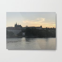 Sunset over the Castle Metal Print