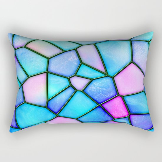 pastel stained glass Rectangular Pillow
