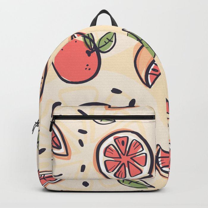 Red Grapefruit for Breakfast Backpack