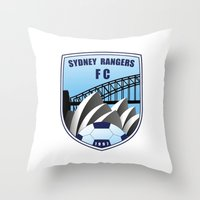fire emblem Throw Pillows featuring Emblem by Sydney Rangers FC