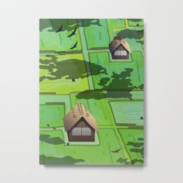 Rice paddy field Metal Print