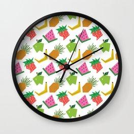 Fruit Print Wall Clock