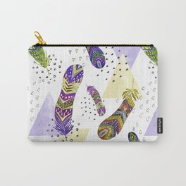 Abstract pattern with feathers 1. Carry-All Pouch