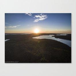 Walloon Lake Sunset Canvas Print