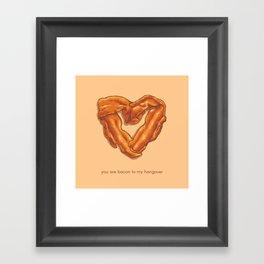 Bacon Valentine Framed Art Print