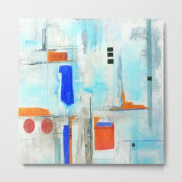 Nautical Intentions, Abstract Art Painting Metal Print