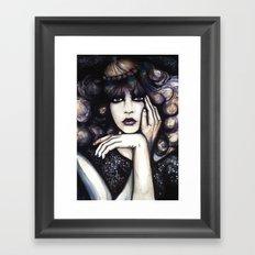 Blonde Curls // Fashion Illustration Framed Art Print