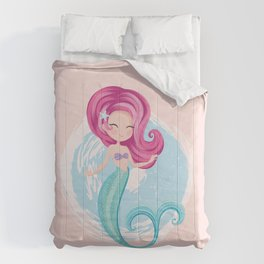 Cute little mermaid illustration Comforters