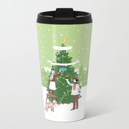 Decorating a tree Metal Travel Mug