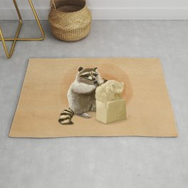 Raccoon in Pursuit of Perfection Rug