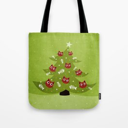 Cat Christmas Tree Tote Bag