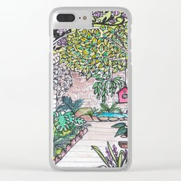 Val's Beautiful Garden Clear iPhone Case