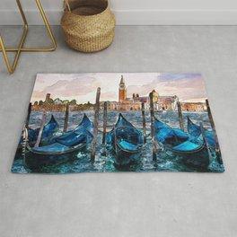 Gondolas in Venice Rug