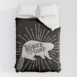 Face Your Fears: White Duvet Cover