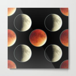 Blood Moon Eclipse Metal Print