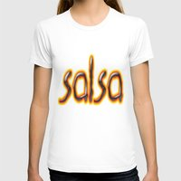 marc T-shirts featuring Salsa Marc On Fire by Salsa Republic