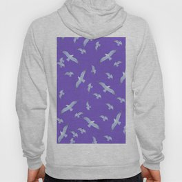 purple seagull day flight Hoody