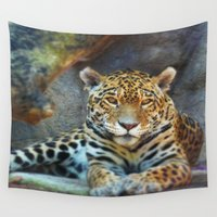 jaguar Wall Tapestries featuring Jaguar by IrenneThemba