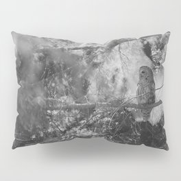 Owl Spirit in the Woods, Shades of Gray Pillow Sham