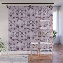 Square Pastel Dusky Pink Pattern Wall Mural