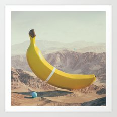 Banana Land Art Print