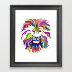 The Lion of Technicolor Framed Art Print